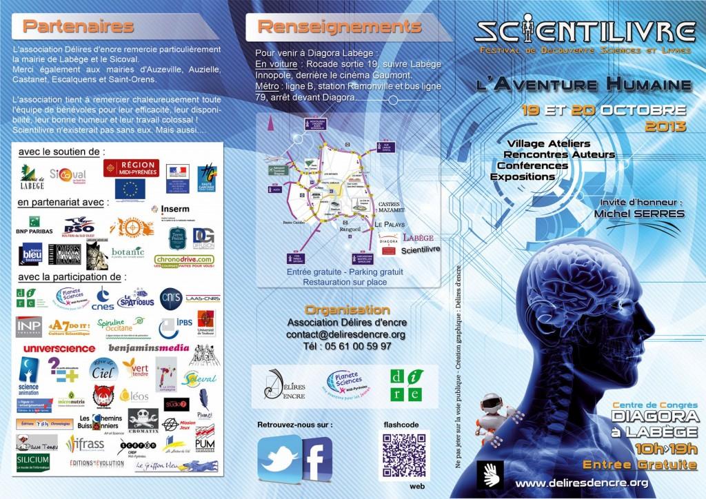 Programme Scientilivre 2013 Horizontale 1