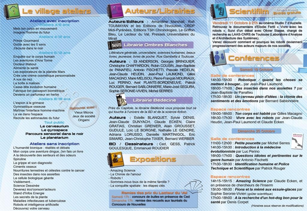 Programme Scientilivre 2013 Horizontale 2