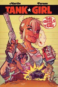 TANK GIRL 2 GIRLS 1 TANK #1 (OF 4) CVR B PARSONS